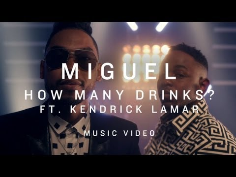 Video thumbnail for youtube video Miguel feat Kendrick Lamar - How many drinks (video premiere)