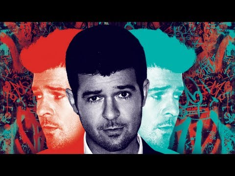 Video thumbnail for youtube video Robin Thicke canta Blurred Lines ed altre hit live