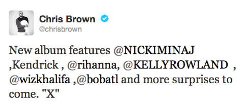 Chris-Brown-Reveals-X-Album-Features-Tweet