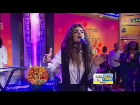 Video thumbnail for youtube video Lorde canta Royals a Good Morning America