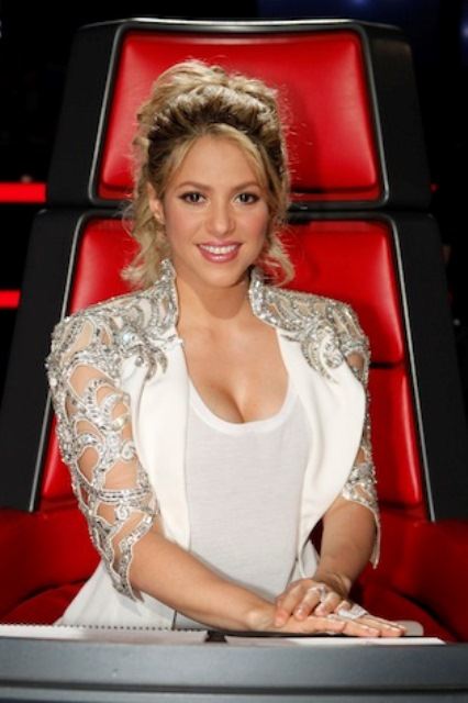 "THE VOICE -- Episode 414A ""Live Show"" -- Pictured: Shakira -- (Photo by: Trae Patton/NBC)"