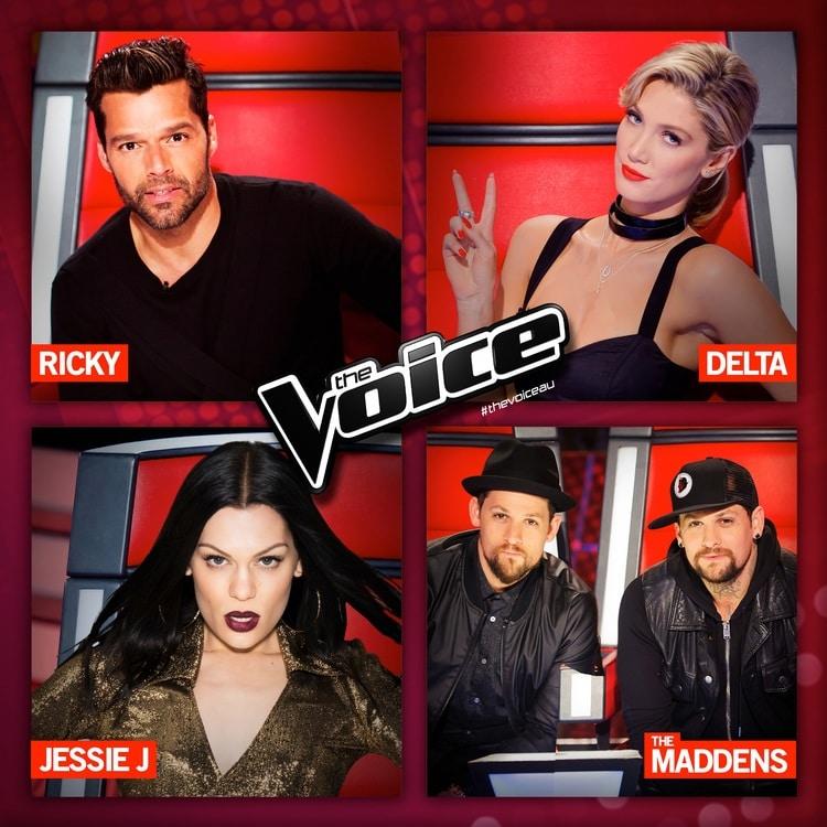 Photo of Jessie J, Ricky Martin e Delta Goodrem live a The Voice Australia