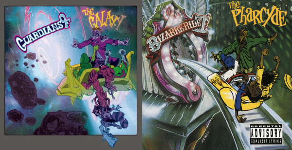 "Guardians Of The Galaxy #1 - The Pharcyde ""The Pharcyde Bizarre Ride II"" – art by Shawn Crystal"
