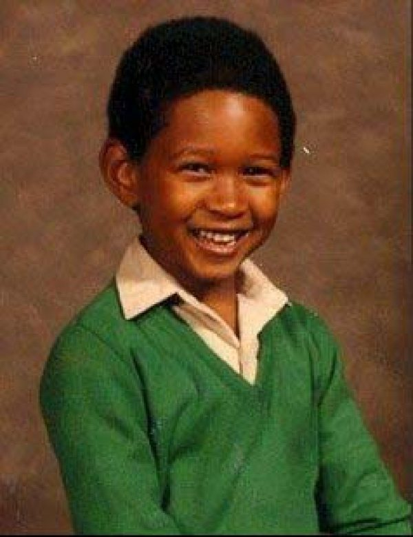 Usher before he became famous Supplied by WENN