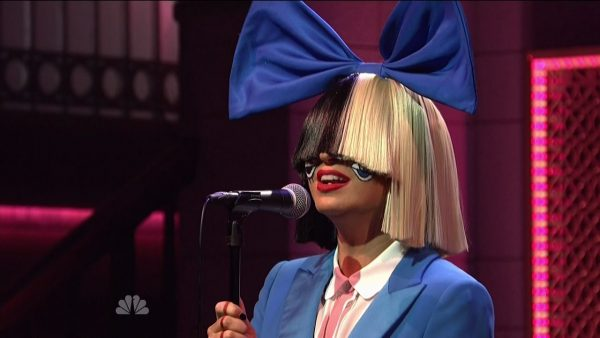 "Sia musical guest on the 41st season NBC's 'Saturday Night Live ' Sia performs two songs  ""Alive"" and  ""Bird Set Free."" Featuring: Sia Where: United States When: 09 Nov 2015 Credit: Supplied by WENN.com **WENN does not claim any ownership including but not limited to Copyright, License in attached material. Fees charged by WENN are for WENN's services only, do not, nor are they intended to, convey to the user any ownership of Copyright, License in material. By publishing this material you expressly agree to indemnify, to hold WENN, its directors, shareholders, employees harmless from any loss, claims, damages, demands, expenses (including legal fees), any causes of action, allegation against WENN arising out of, connected in any way with publication of the material.**"