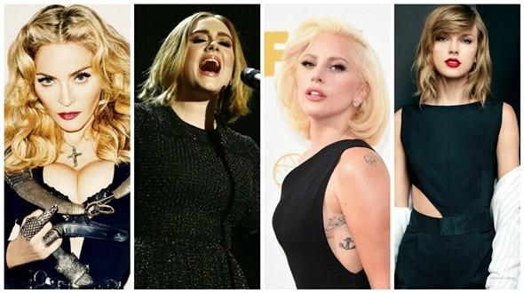 Gaga Madonna Adele Taylor