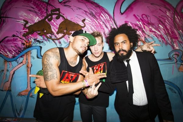 Major Lazer pose for a portrait during the Notting Hill Carnival in London, United Kingdom on August 27th 2012 // Dan Wilton/Red Bull Content Pool // P-20120828-00099 // Usage for editorial use only // Please go to www.redbullcontentpool.com for further information. //