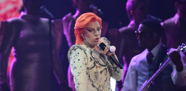 Lady Gaga performs onstage during the 58th Annual Grammy music Awards in Los Angeles February 15, 2016. AFP PHOTO/ ROBYN BECK / AFP / ROBYN BECK (Photo credit should read ROBYN BECK/AFP/Getty Images)