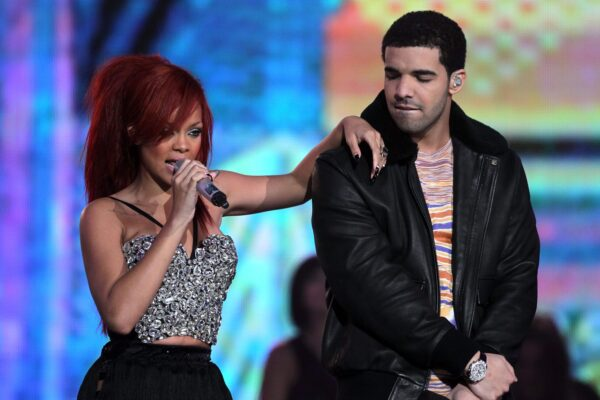 Los Angeles, Ca - February 20: Singer Rihanna (L) And Rapper Drake Perform During The 2011 Nba All-Star Game Halftime Show At Staples Center On February 20, 2011 In Los Angeles, California. Note To User: User Expressly Acknowledges And Agrees That, By Downloading And Or Using This Photograph, User Is Consenting To The Terms And Conditions Of The Getty Images License Agreement. (Photo By Jeff Gross/Getty Images)