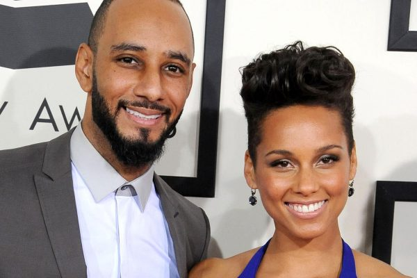 LOS ANGELES, CA - JANUARY 26: Alicia Keys and Swizz Beatz arrivals at the 56th GRAMMY Awards on January 26, 2014 in Los Angeles, California. (Photo by Steve Granitz/WireImage)