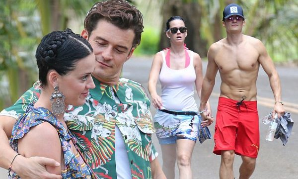 EXCLUSIVE: *PREMIUM EXCLUSIVE RATES APPLY* *NO WEB UNTIL 4AM EST, MARCH 2* *NO TV UNTIL 3PM EST, MARCH 1* A bikini clad Katy Perry and shirtless Orlando Bloom hiking the Napali Coast in Hawaii on February 27