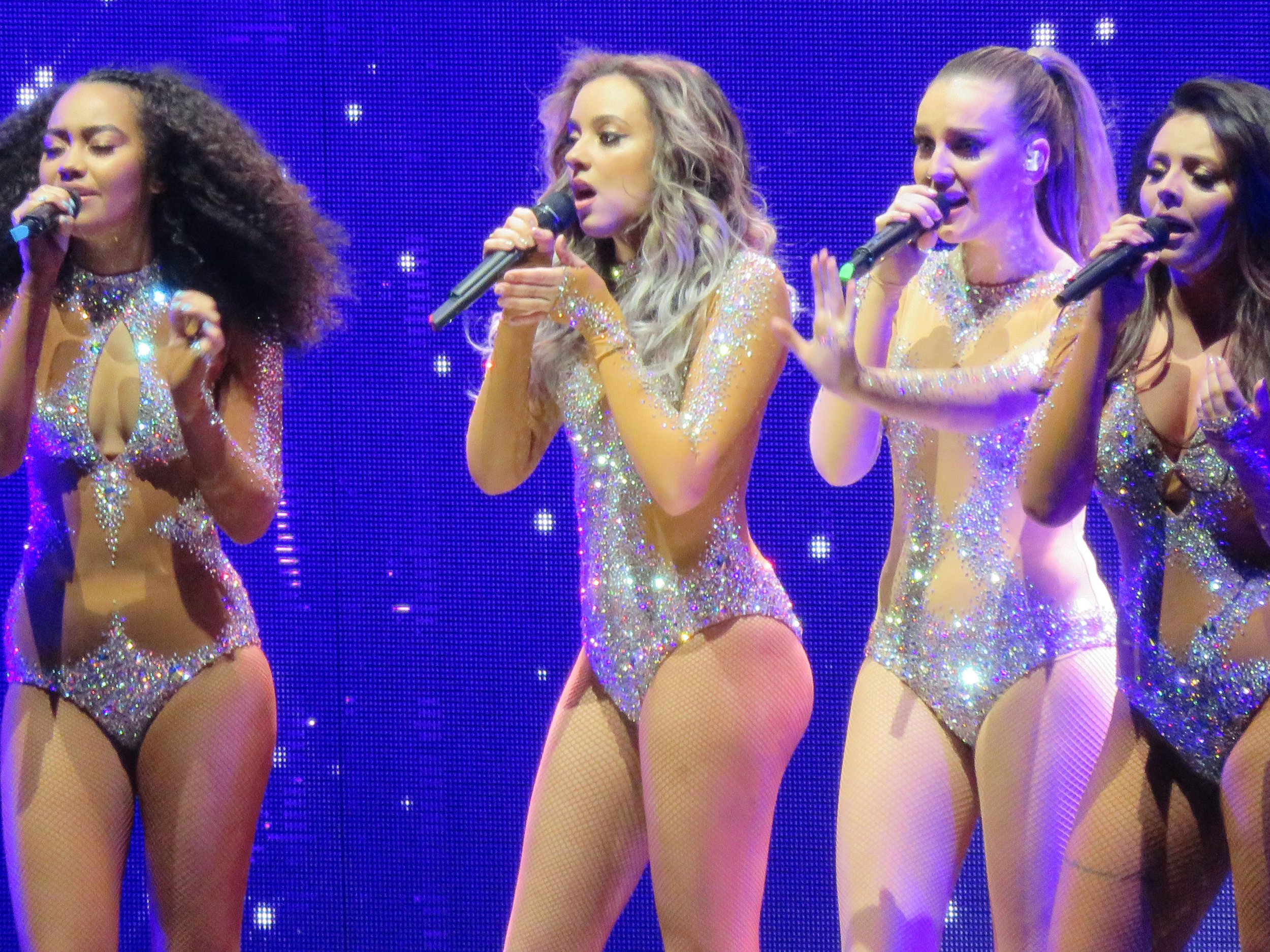 27.March.2016 - London - UK Little Mix, Perrie Edwards, Leigh Anne Pinnock, Jesy Nelson and Jade Thirlwall, seen performing live at the O2 arena in London during their Get Weird Tour! BYLINE MUST READ : Belcher/XPOSUREPHOTOS.COM PLEASE CREDIT AS PER BYLINE *UK CLIENTS MUST CALL PRIOR TO TV OR ONLINE USAGE PLEASE TELEPHONE 020 8344 2007