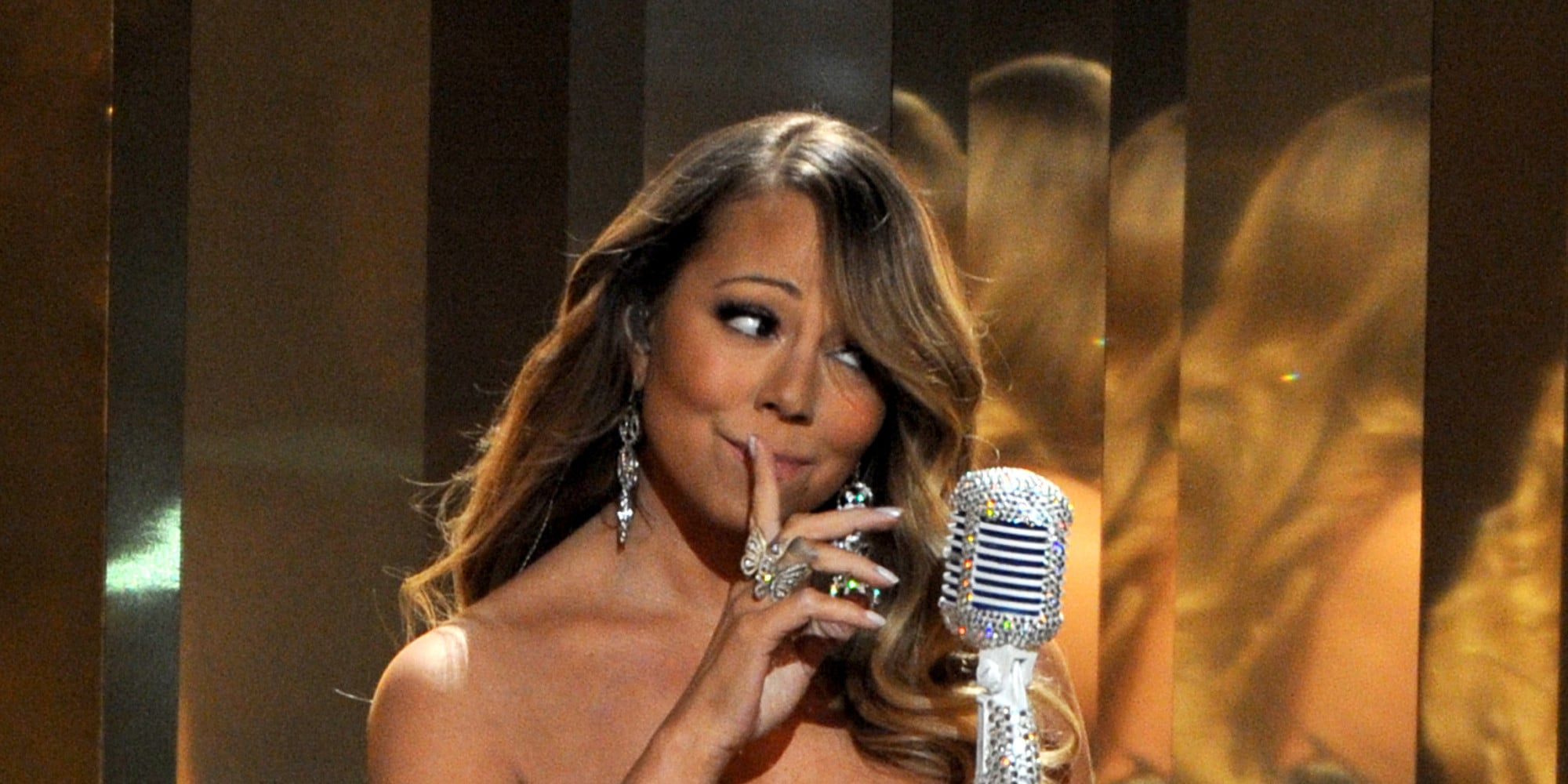 Mariah Carey performs onstage at the BET Awards at the Nokia Theatre on Sunday, June 30, 2013, in Los Angeles. (Photo by Frank Micelotta/Invision/AP)