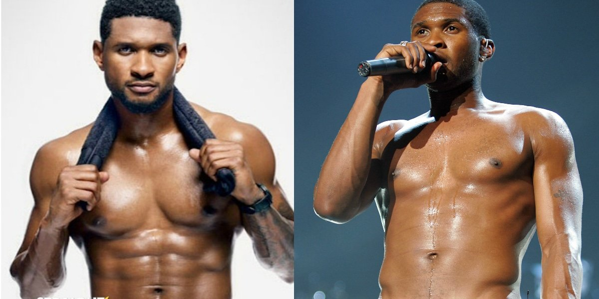 usher-shirtless