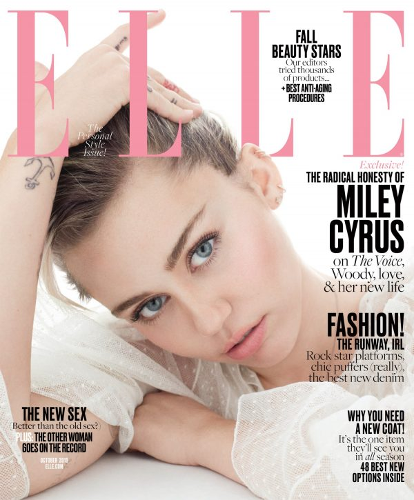1473614365 Elle October Miley Cyrus Newsstand Cover