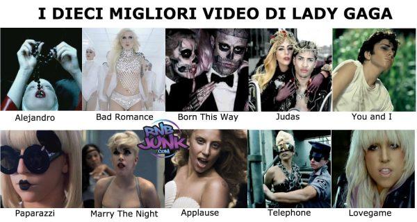 lady gaga 10 migliori video