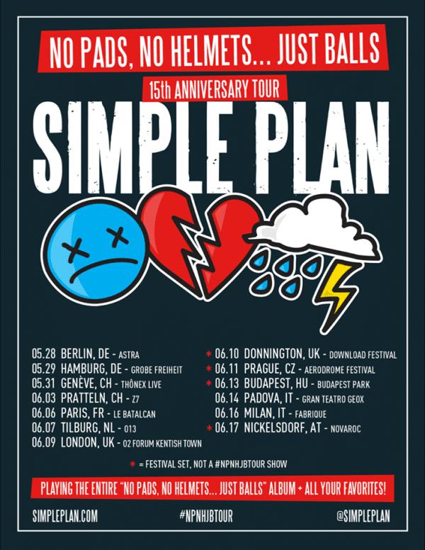 simpleplan-tour-italia-milano-padova-anniversario-primo-album