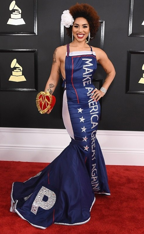 LOS ANGELES, CA - FEBRUARY 12:  Singer Joy Villa attends The 59th GRAMMY Awards at STAPLES Center on February 12, 2017 in Los Angeles, California.  (Photo by Jon Kopaloff/FilmMagic)