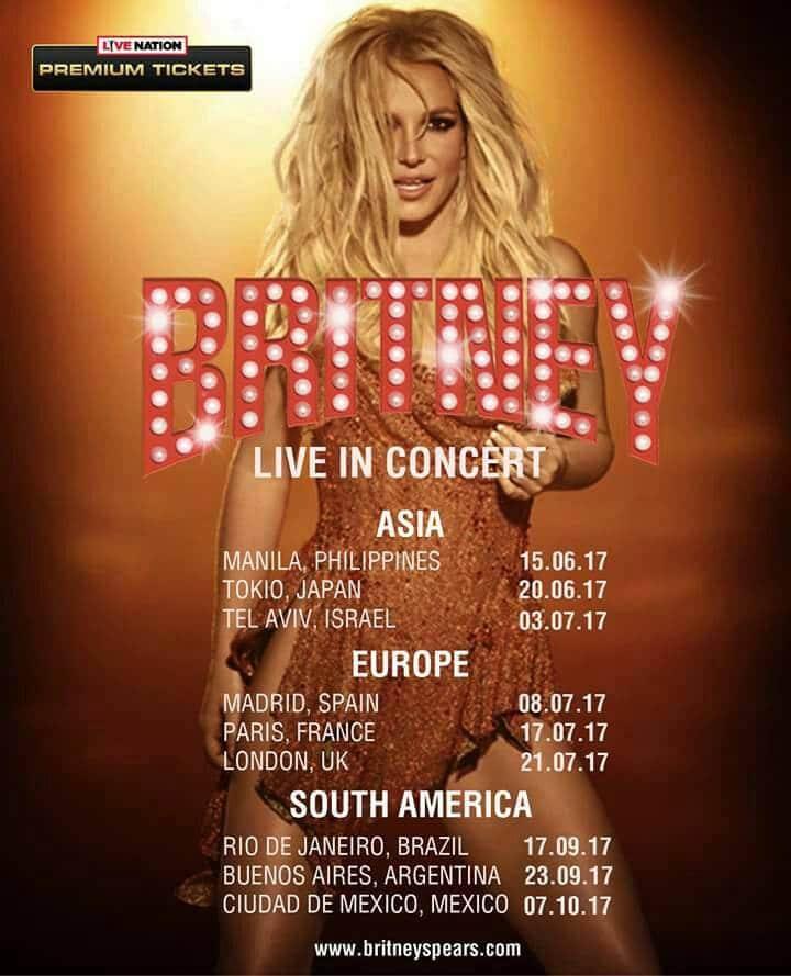 Britney Tour Mondiale 2017