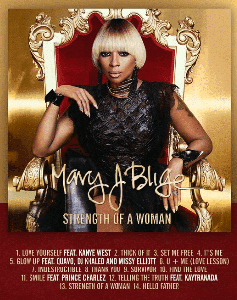 Mary J Blige Strenght Of A Woman Copertina Tracklist