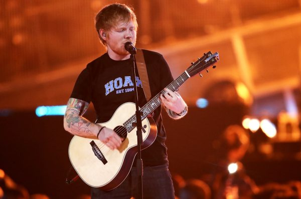 LONDON, ENGLAND - FEBRUARY 22: (EDITORIAL USE ONLY) Ed Sheeran performs on stage at The BRIT Awards 2017 at The O2 Arena on February 22, 2017 in London, England. (Photo by Mike Marsland/Mike Marsland/WireImage)