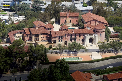 EXCLUSIVE:  The Sisters of the Immaculate Heart of Mary convent in Los Feliz, California. The hilltop villa is currently the subject of a real estate battle as Katy Perry wishes to buy the property for her new home, but there is an argument over whose property it is to sell. Sister Rita Callanan, 77, and Sister Catherine Rose, 86, who once lived in the convent, recently sold it to restaurateur Dana Hollister for $15.5 million. However,  Archbishop Jose Gomez believes the property belongs to the diocese and wishes to sell to Perry.  Pictured:  The Sisters of the Immaculate Heart of Mary convent Ref: SPL1064643  300615   EXCLUSIVE Picture by: Splash News Splash News and Pictures Los Angeles:	310-821-2666 New York:	212-619-2666 London:	870-934-2666 photodesk@splashnews.com