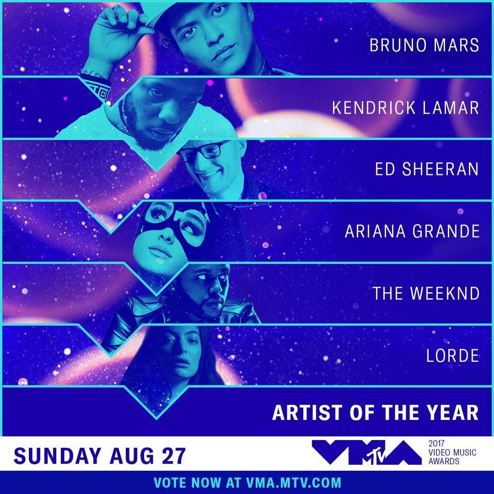 MTV VMA 2017 Nominations Complete