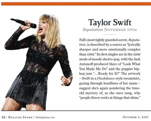 Taylor Swift reputation rumors