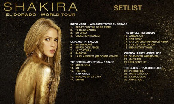 Concerto di Shakira a Milano rimandato al 2018: