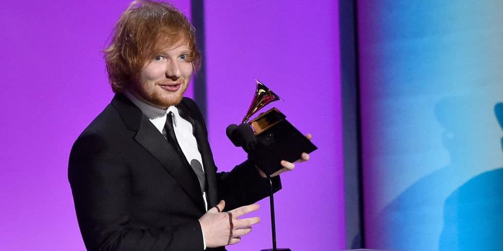 landscape 1455623605 music ed sheeran accepts his grammy award