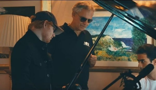 Ed Sheeran Perfect Symphony: il duetto tra Ed Sheeran e Andrea Bocelli