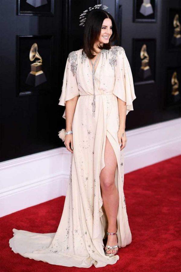 Lana Del Rey Headpiece 2018 Grammys