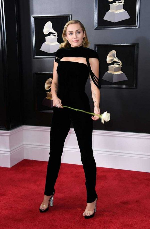 Miley Cyrus Black Jumpsuit Grammys 2018