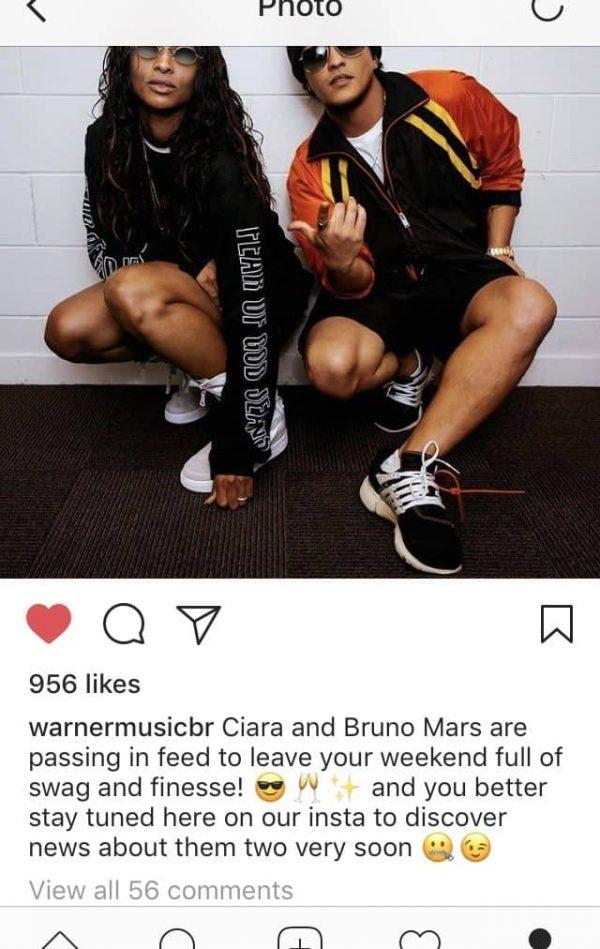 Ciara Bruno Mars collaborazione