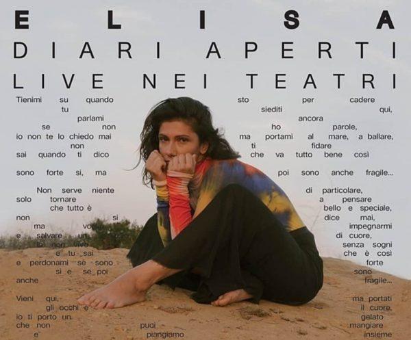Elisa Diari aperti live nei teatri