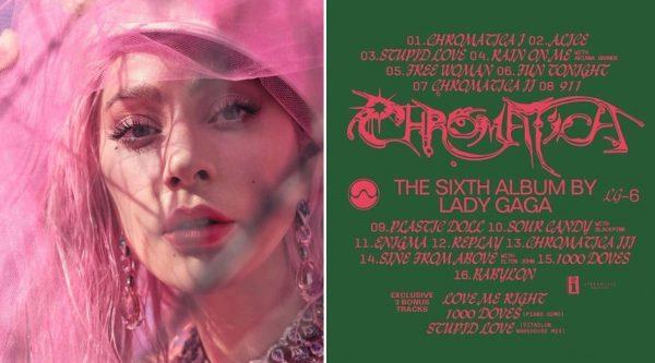 chromatica tracklist ufficiale lady gaga