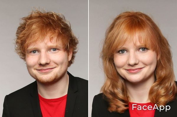 Ed Sheeran Diventa Donna Con Il Filtro Cambio Sesso Faceapp