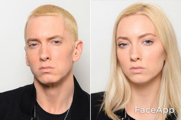 Eminem Diventa Donna Con Il Filtro Cambio Sesso Faceapp