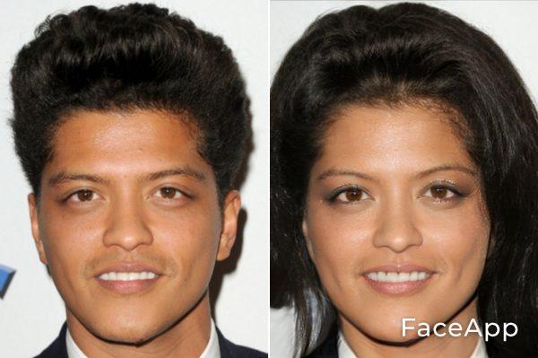 Bruno Mars Diventa Donna Con Il Filtro Cambio Sesso Faceapp