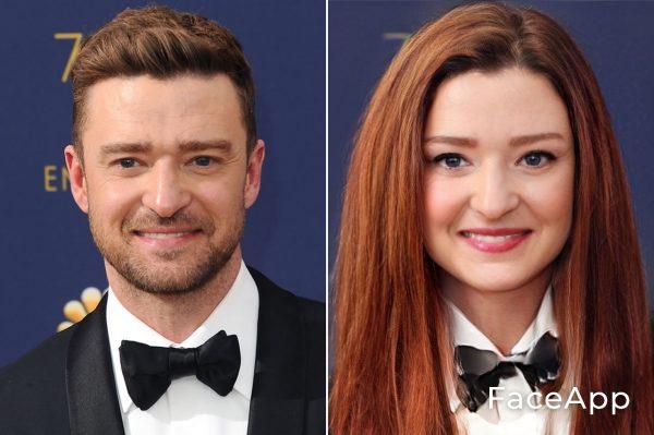 Justin Timberlake Diventa Donna Con Il Filtro Cambio Sesso Faceapp