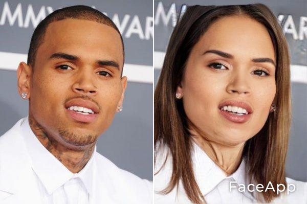 Chris Brown Diventa Donna Con Il Filtro Cambio Sesso Faceapp