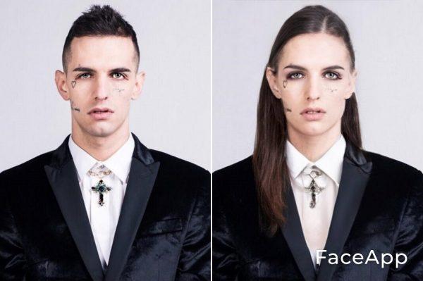 Achille Lauro Diventa Donna Con Il Filtro Cambio Sesso Faceapp