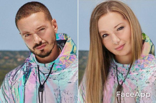 J Balvin Diventa Donna Con Il Filtro Cambio Sesso Faceapp
