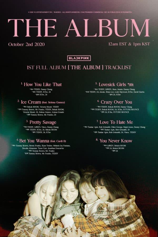 blackpink the album tracklist