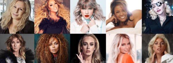 cantanti donne con piu settimane top
