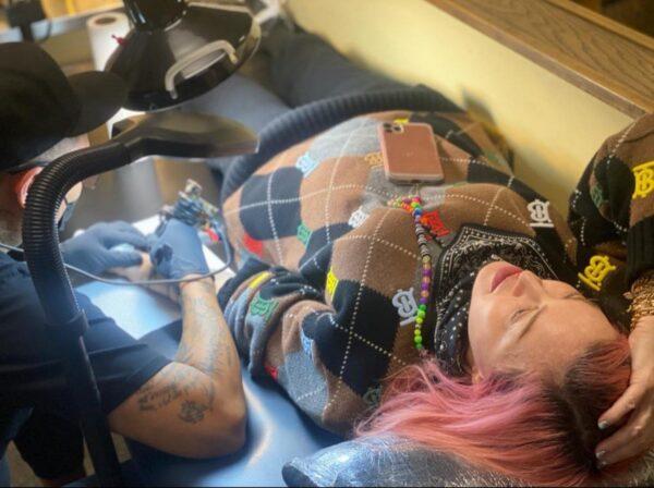 madonna tatuaggio figli