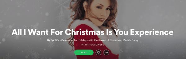 Mariah Carey batte spotify 24 ore, canzoni di natale top 10